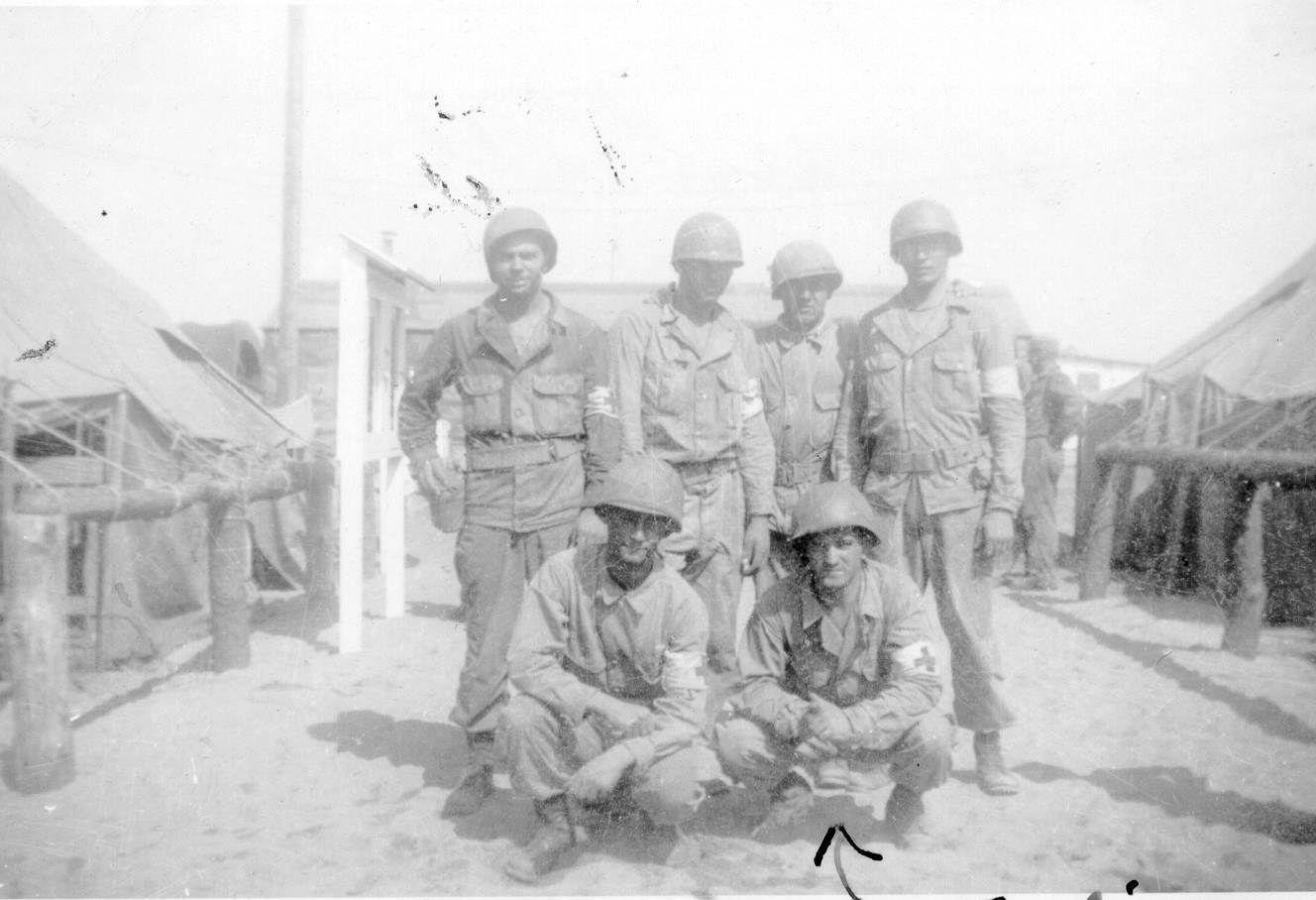 Frankie with his fellow medics in 1944.