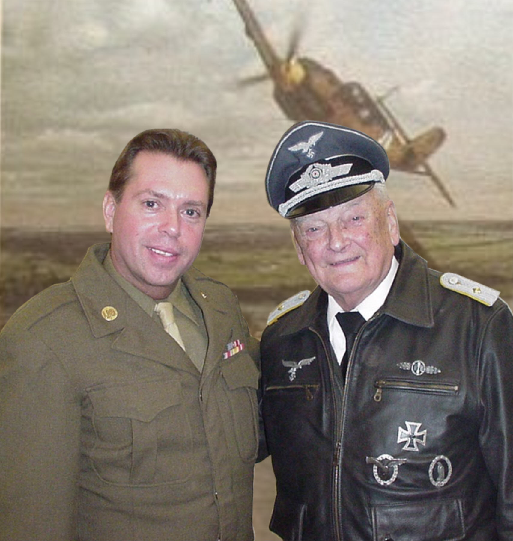 Gottfried and I at the Battle of the Bulge Reenactment